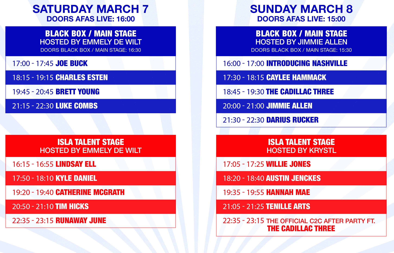 Update tijdschema 8 maart