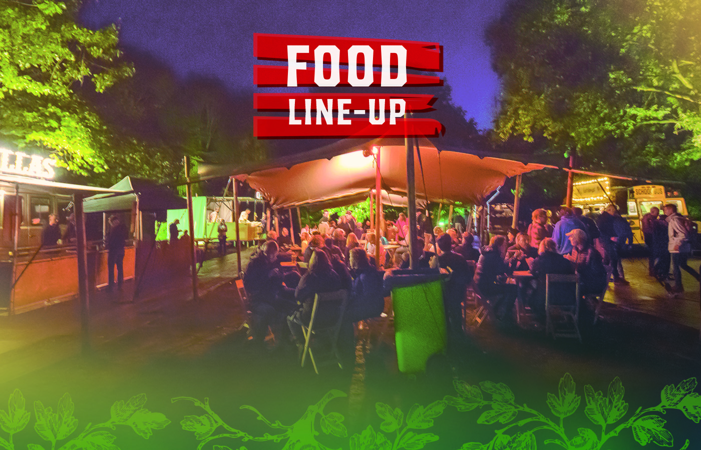 De food line-up is bekend!